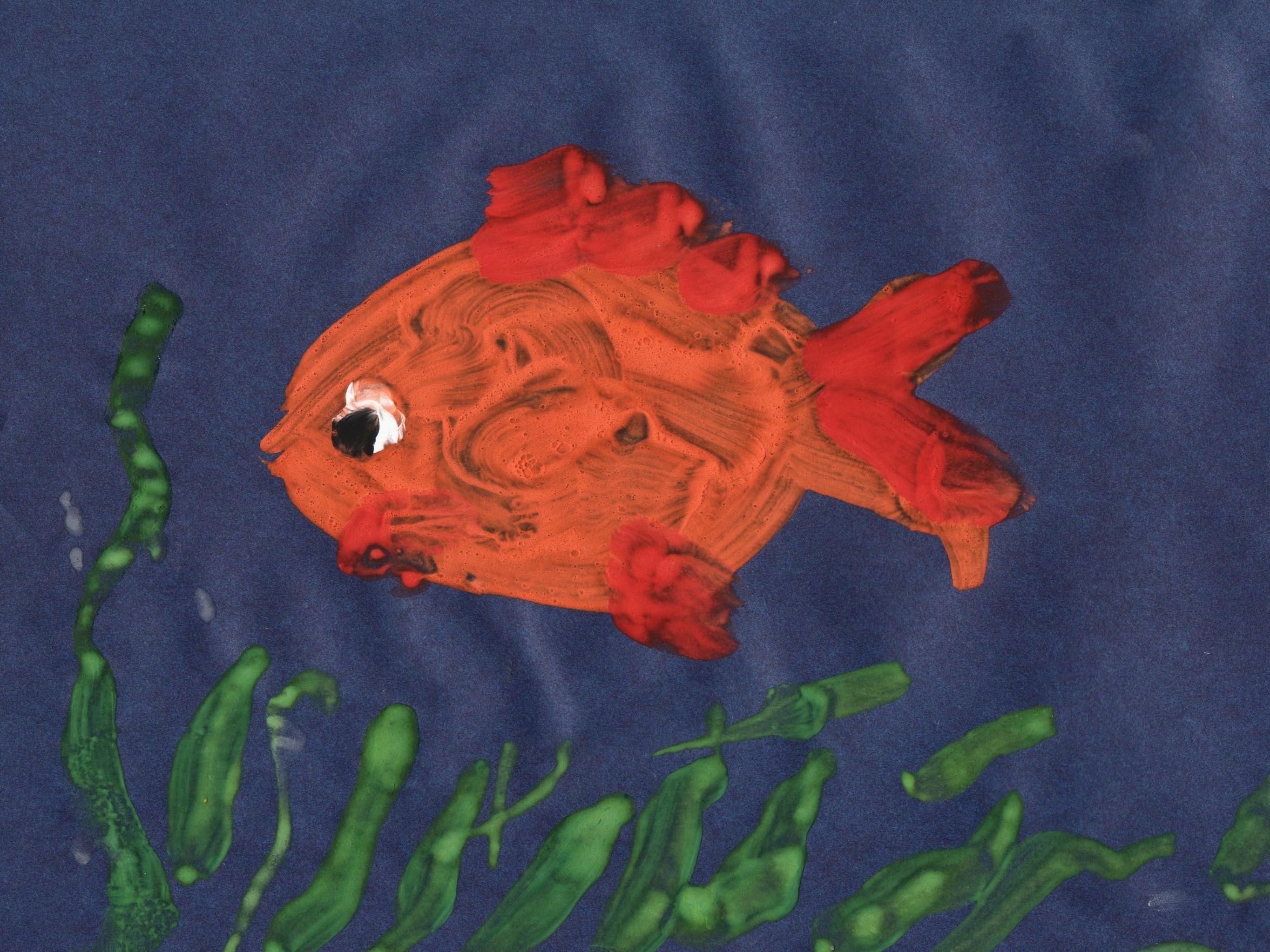 рисование рыбки в средней группе картинки