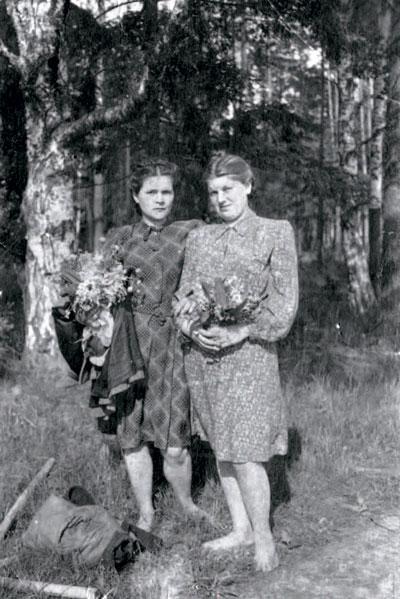 С сестрой Зиной