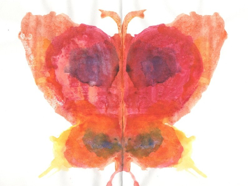 Рисуем бабочку-красавицу