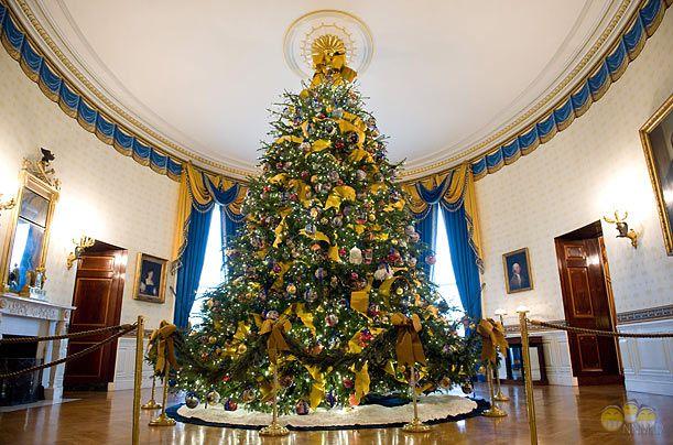 Рождественская ель четы Мишель и Барака Обамы