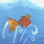 Рисуем золотую рыбку