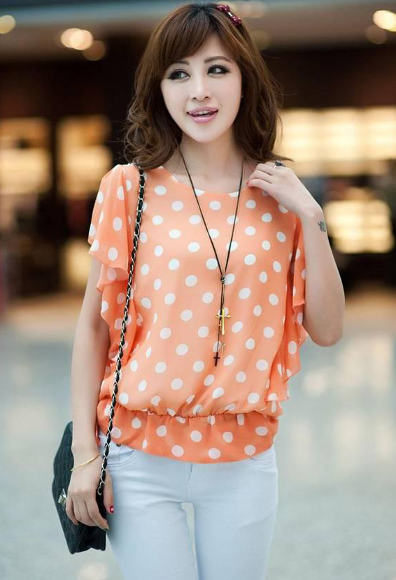 HH-1823067ChiffonShirt-Orange-0-182306723