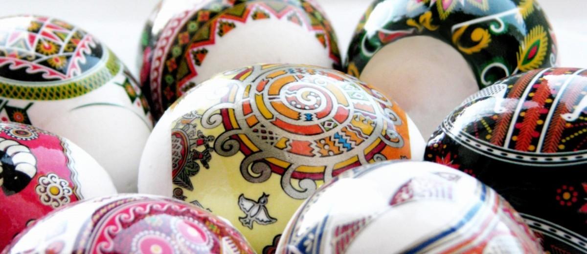 Красивые яйца к пасхе