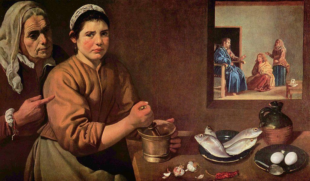 Диего Веласкес. «Христос в доме Марфы и Марии»