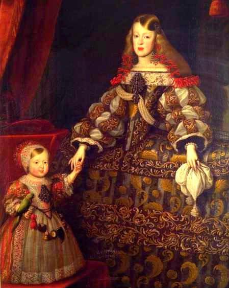 Императрица Маргарита Тереза с дочерью эрцгерцогиней Марией Антонией