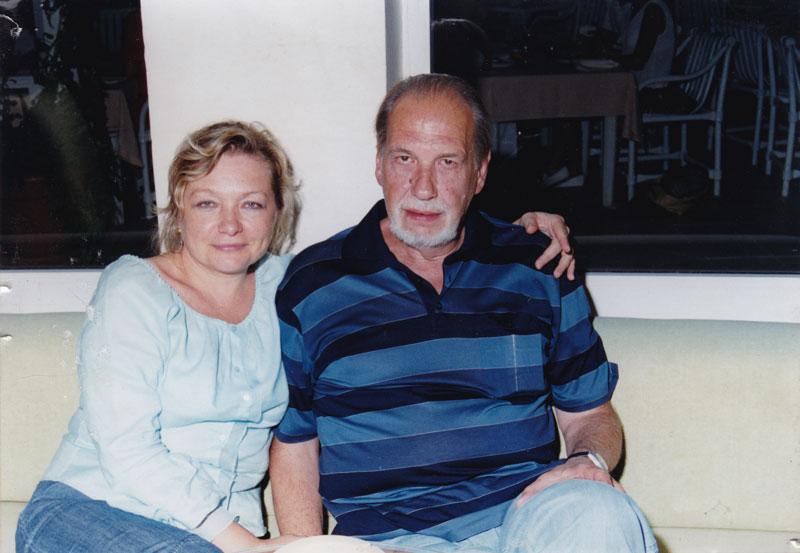 Дочь Елена Бахарева с мужем