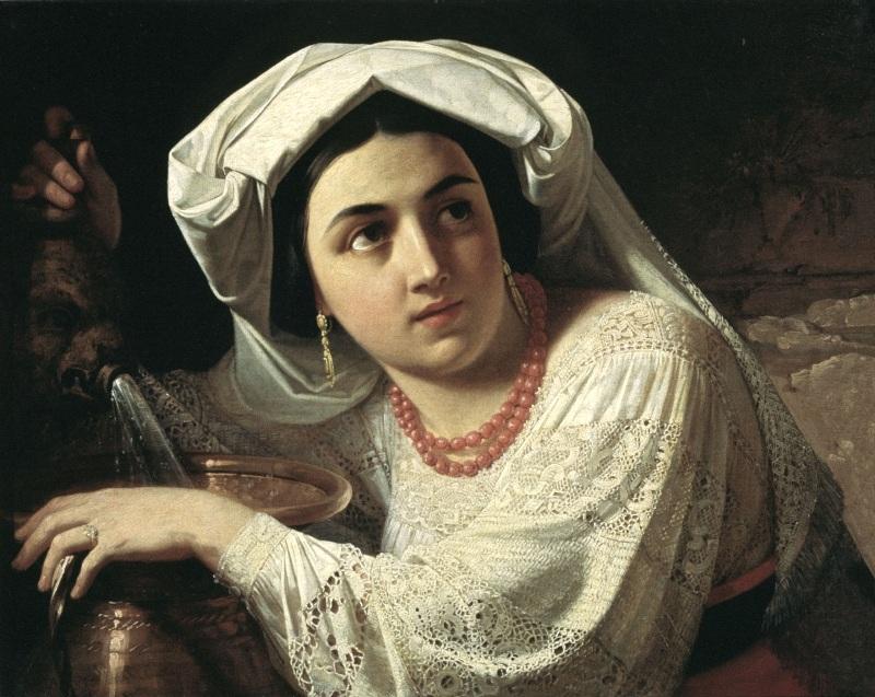 Орест Исаакович Тимашевский. Итальянка. 1854-1858 гг.