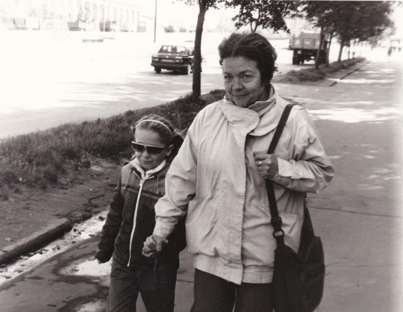 Ирина с внучкой Олей
