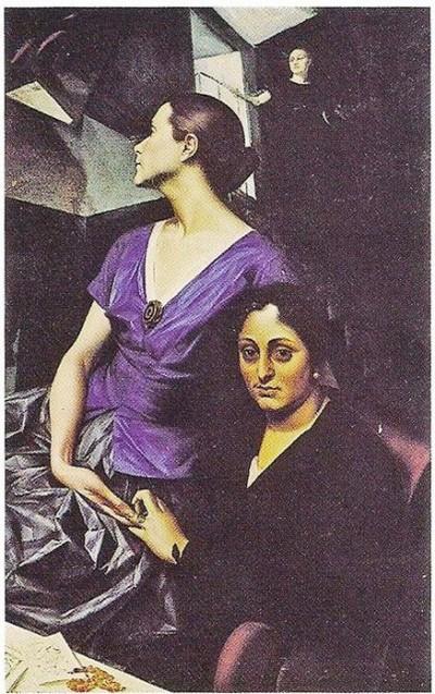 Александр Яковлев. «Портрет Саломеи Андрониковой и Ашени Меликовой (Три женщины)» 1922