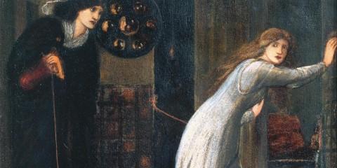 Fair Rosamund and Queen Eleanor 1862 by Sir Edward Coley Burne-Jones, Bt 1833-1898