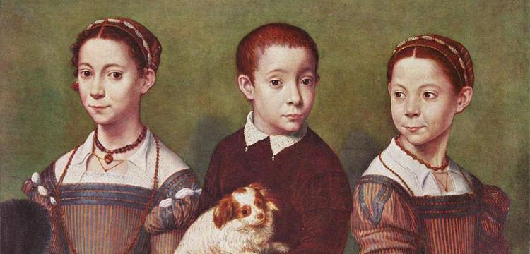 «Трое детей с собачкой» Фрагмент картины итальянской художницы Софонисбы Ангиссолы (ок. 1532–1625) Источник: «Википедия»