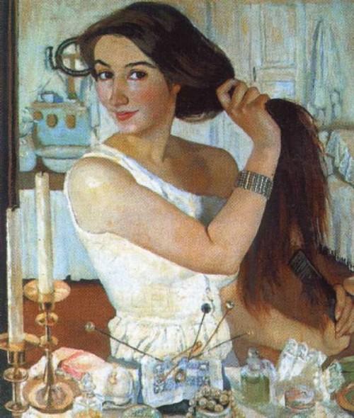 За туалетом. Автопортрет. 1909. З.Е.Серебрякова (1884-1967)