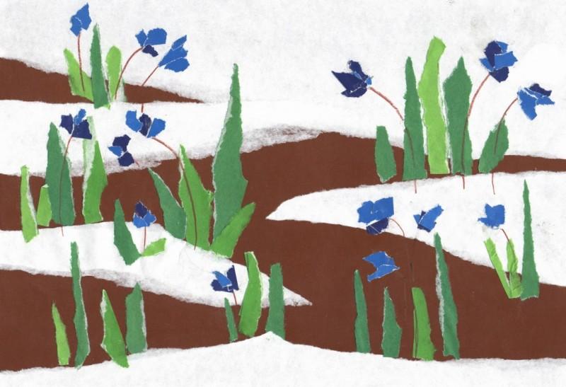 Рисуем подснежники, или Можно ли тянуть растение за верхушку