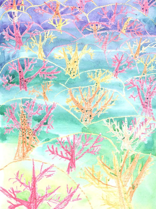 Рисуем сказочный лес, или Разбудить спящую красавицу