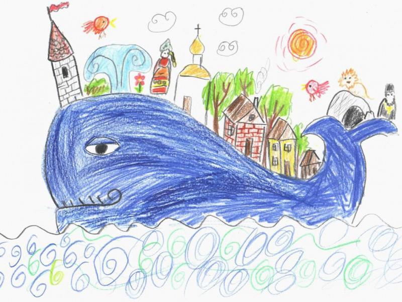 Рисуем Чудо-юдо рыбу-кита, или Мир на моих плечах