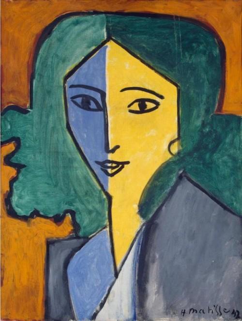 Анри Матисс. Портрет Лидии Делекторской. 1947.