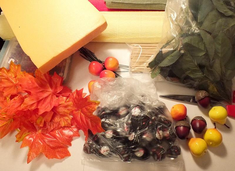 Осенний букет из гофрированной бумаги своими руками мастер класс 98
