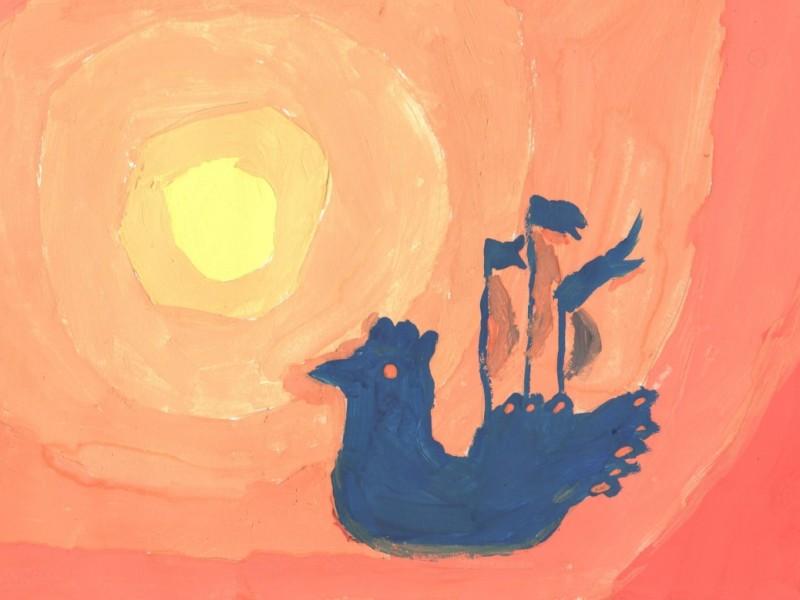 Рисуем Летучий корабль, или Как живут счастливые