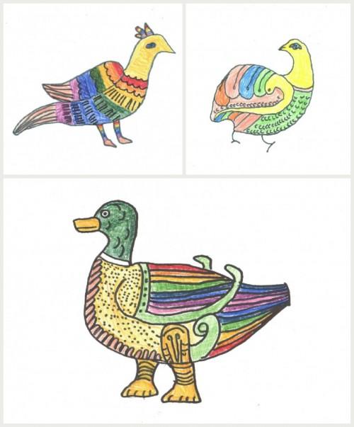 Рисуем райскую птицу, или Как не прилипнуть к Золотому гусю