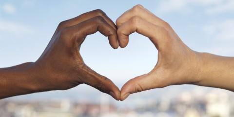 Two hands making a heart shape