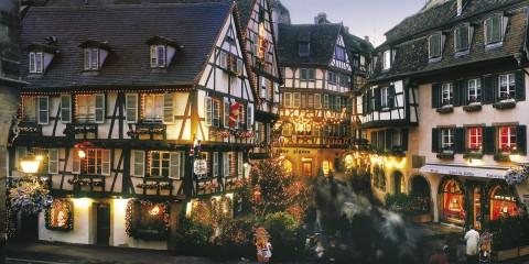 France Alsace Christmas -  Rue des Marchands in Colmar via copyright CRTA - Zvardon