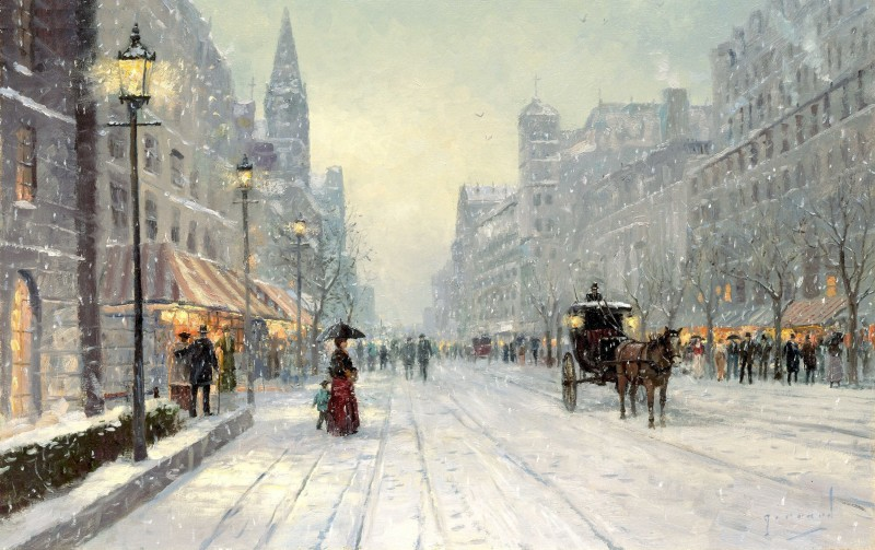 winter-s-dusk-thomas-kinkade