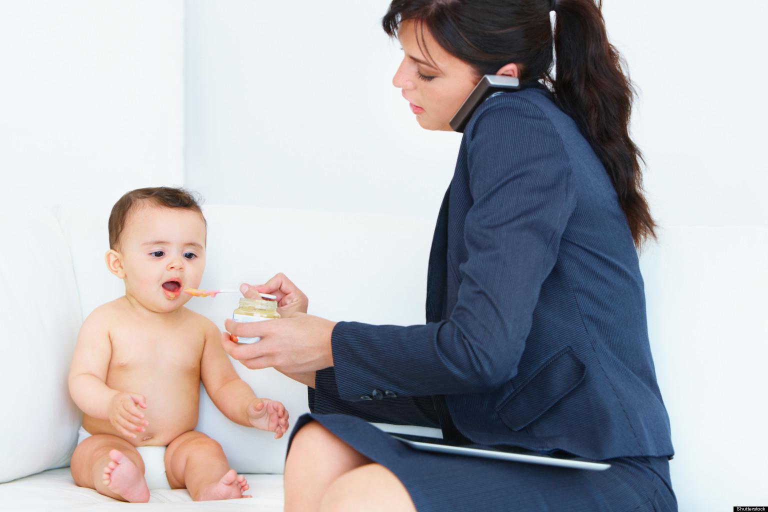 Работающая мама и ребёнок