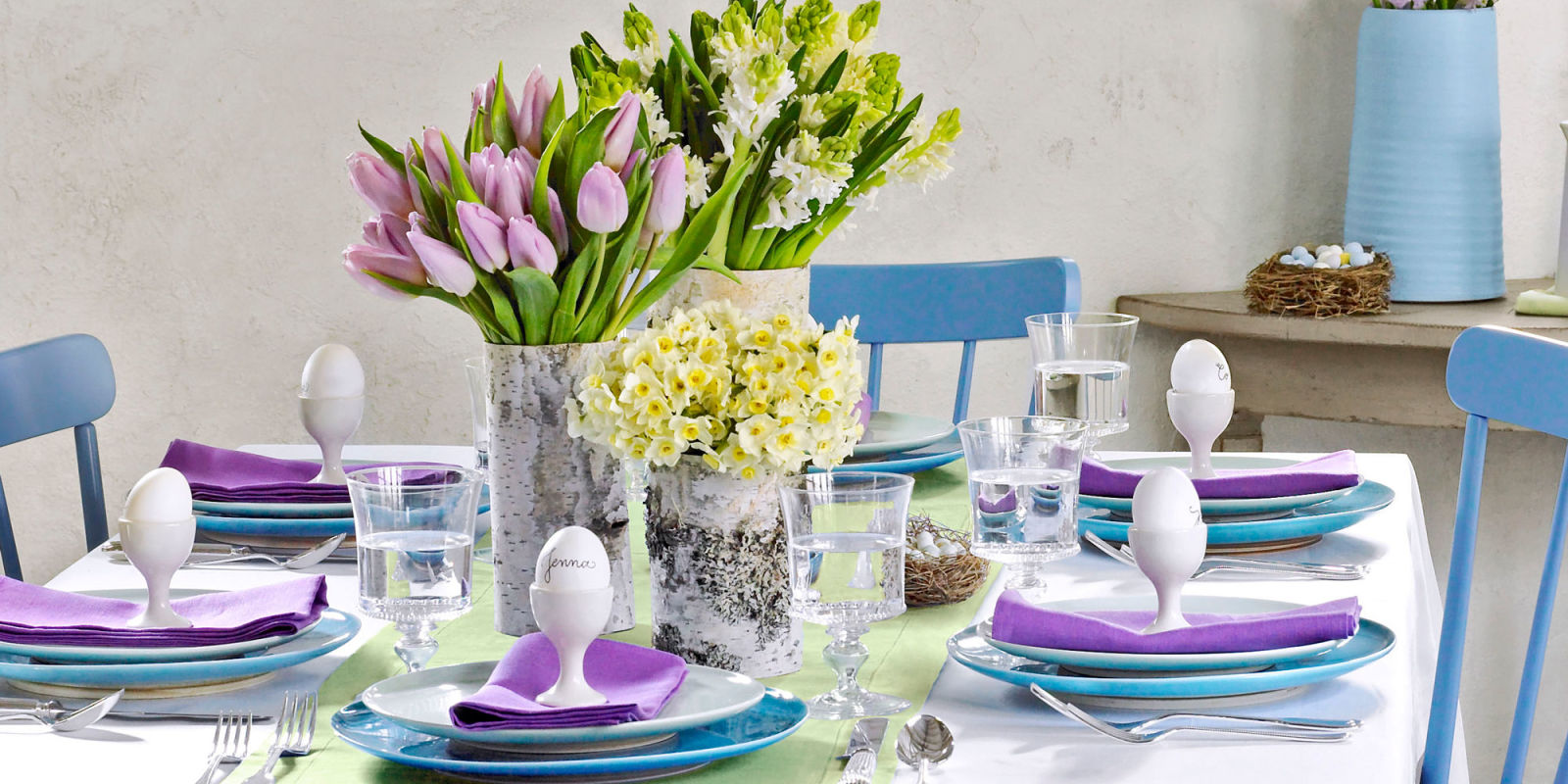Пасхальное украшение стола фото