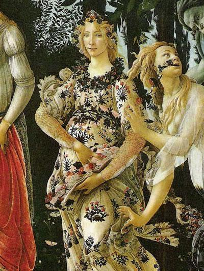 Фрагмент картины Сандро Боттичелли «Весна»