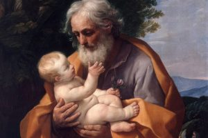 St Joseph with Infant Christ in his Arms, by Guido Reni