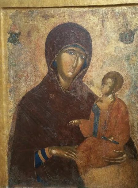 «Богоматерь Одигитрия. Распятие». XIV век.