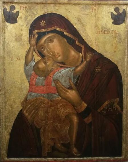 Богоматерь Кардиотисса. Ангелос Акотантос. Первая половина XV века.