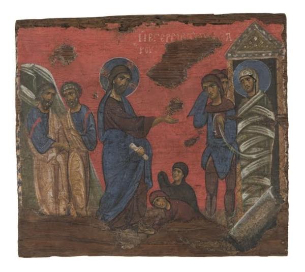 Воскрешение Лазаря. XII век.