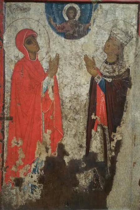 Святые мученицы Марина и Ирина (оборот)