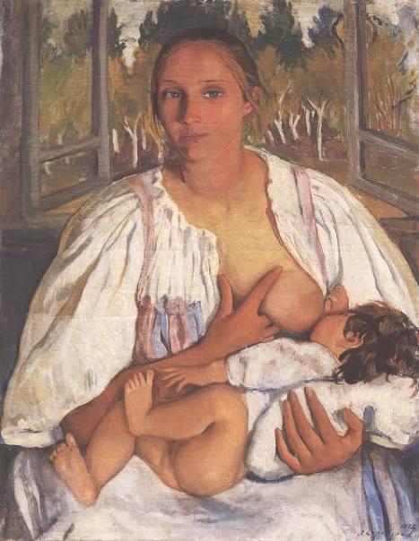 Кормилица с ребенком. 1912.