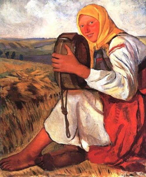 Крестьянка с квасником (Пелагея Молчанова). 1914.