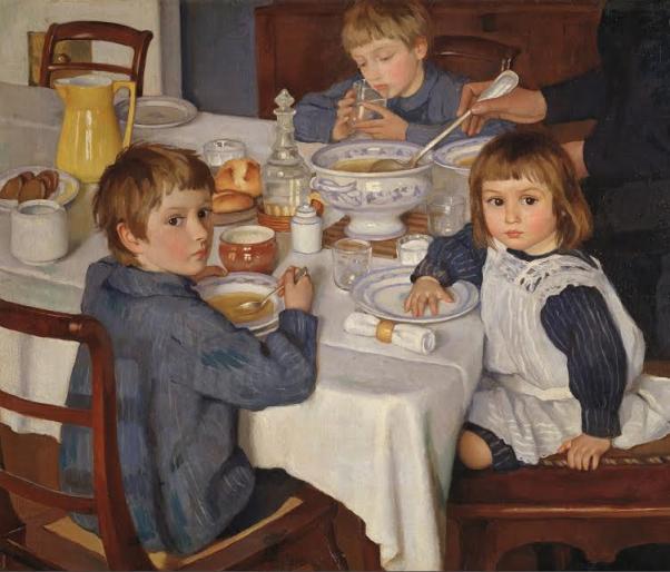 За завтраком. 1914.