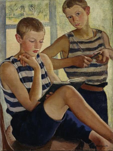Мальчики в матросских тельняшках. 1919.