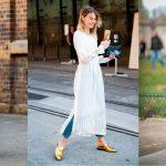Тренд сезона — платье поверх брюк