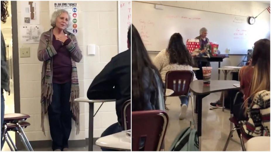 Рождественская история: американские старшеклассники порадовали свою одинокую учительницу
