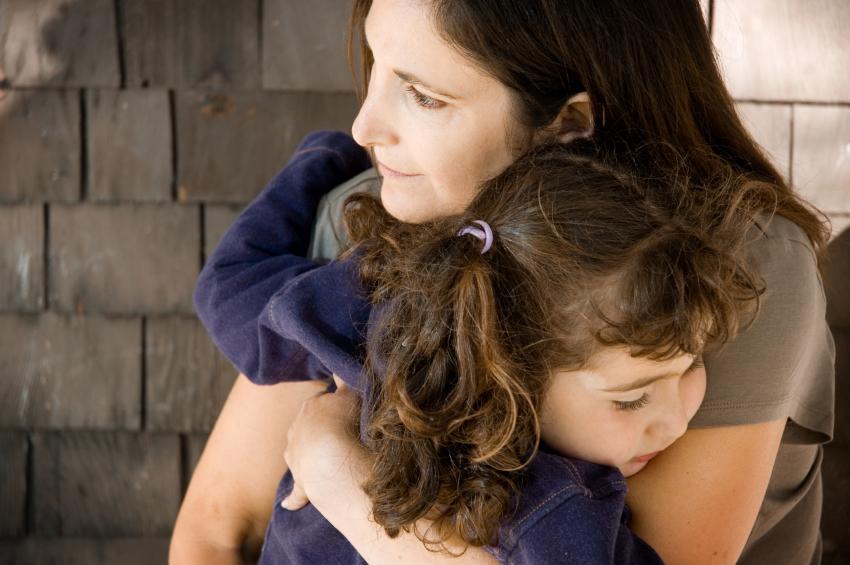 Грустные картинки мама и дочь