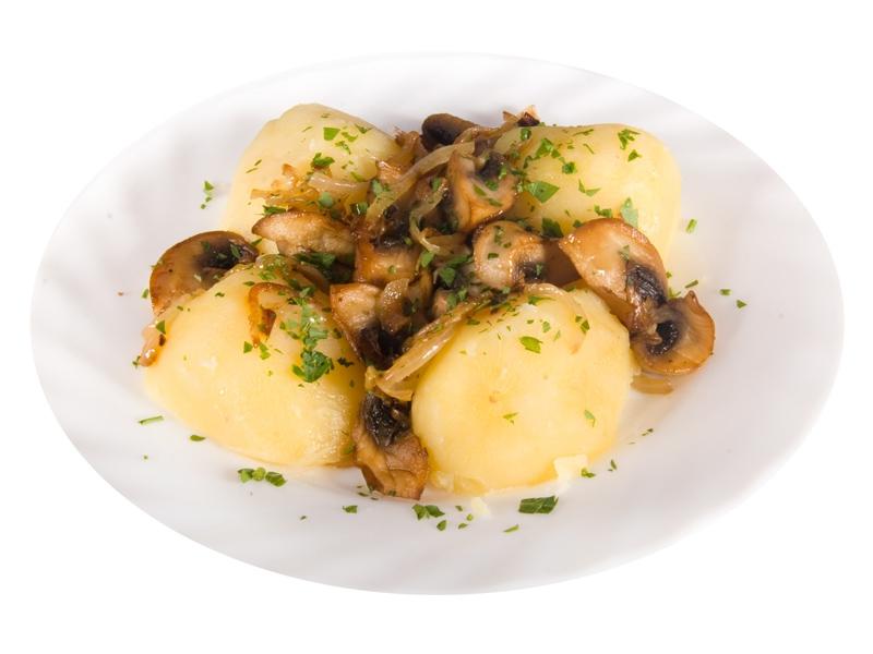 Картошка с вареными грибами жареная рецепт