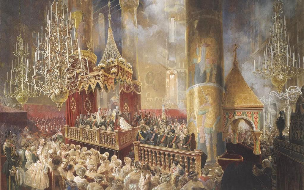Зичи, Михай - Корнация Александра II в Успенском соборе Московского Кремля