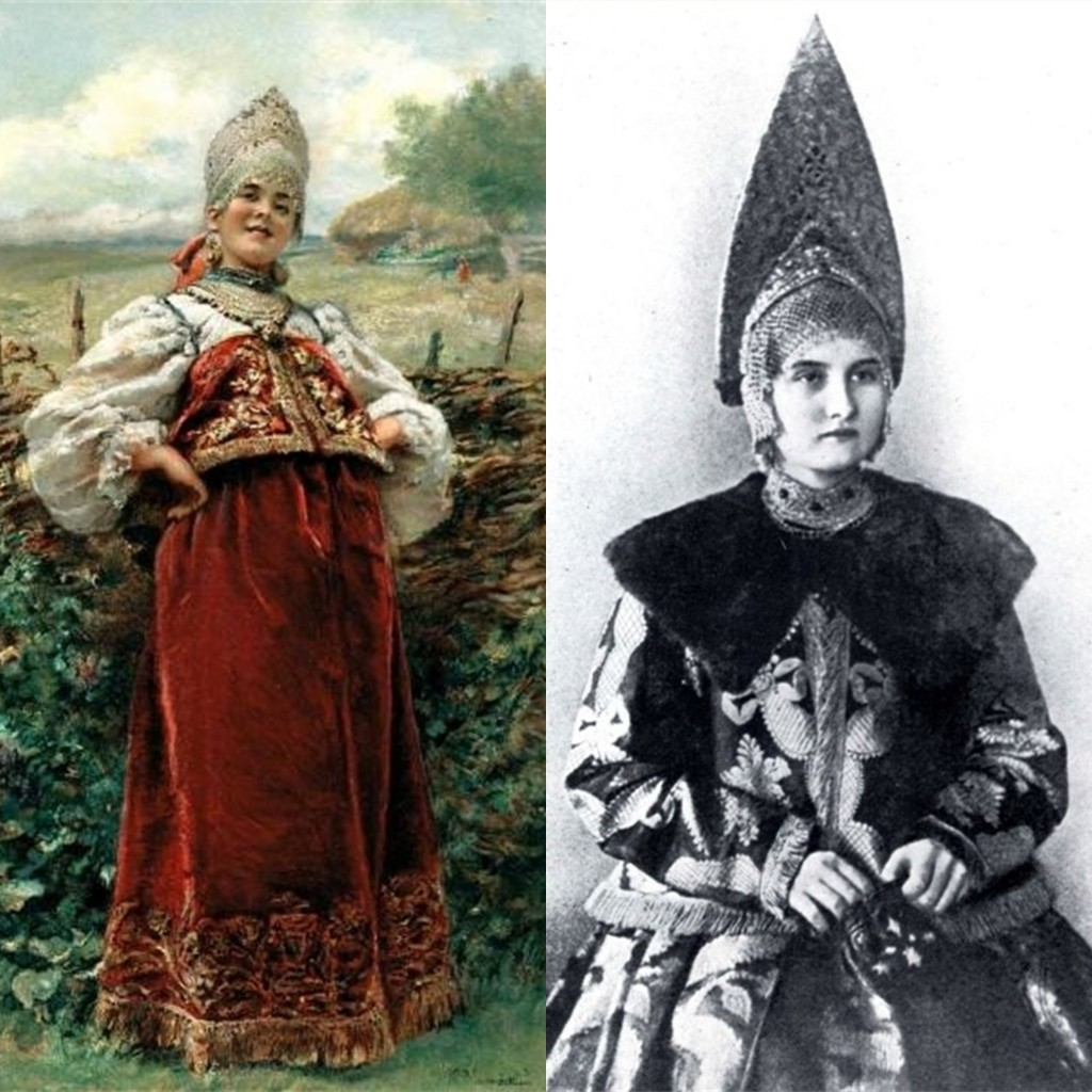 Женщина в костромском праздничном костюме (г. Галич)