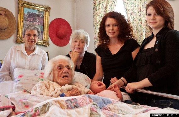 Шесть поколений женщин