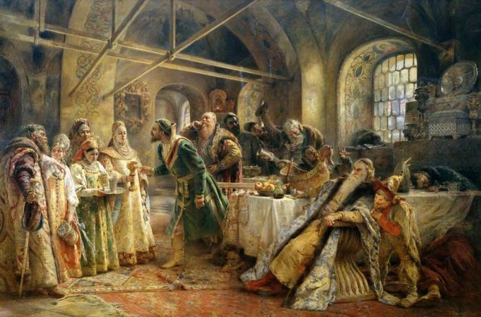 Поцелуйный Обряд (Пир У Боярина Морозова). К. Маковский, 1895