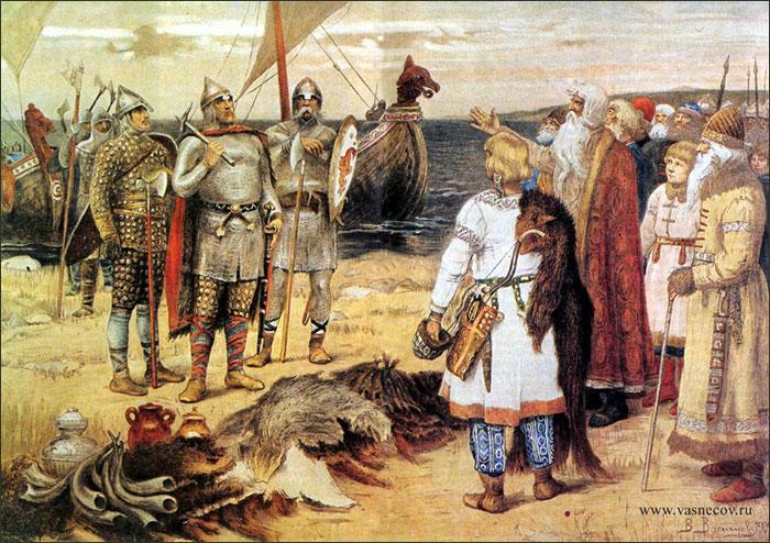 Призвание варягов. В. М. Васнецов, 1884 год