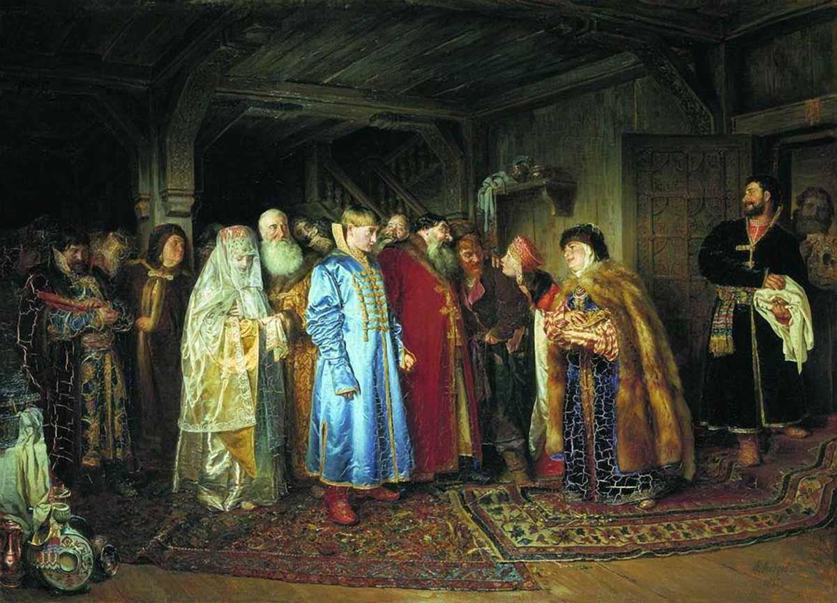 Боярская свадьба. К. В. Лебедев, 1883 г.