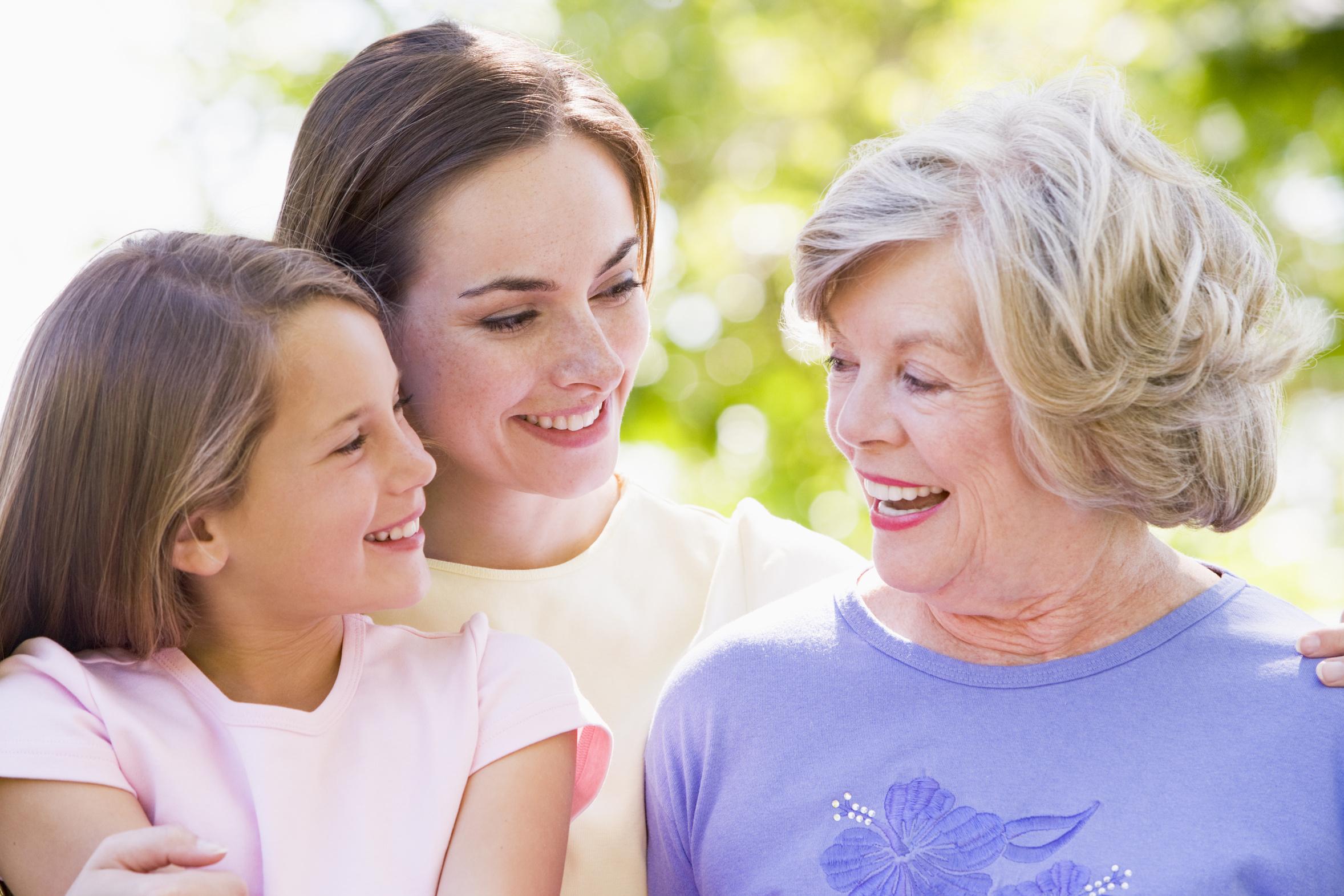 Фото женщин со взрослыми детьми
