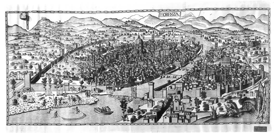 Карта Флоренции. 1427-1429